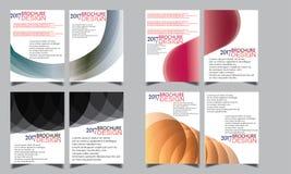 Satz des Flieger-Broschüren-Wellen-Design-Schablonen-Vektors Stockbilder