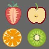 Satz des Fruchtvektors Stockfotos