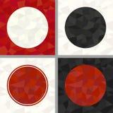Satz des geometrischen Polygonkreisrahmens Lizenzfreie Stockfotografie
