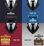 Satz des Geschäfts färbte Hintergründe mit Raum für Text Lizenzfreie Stockfotos