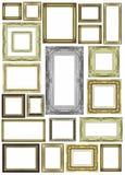 Satz des goldenen Rahmens der Weinlese mit Leerstelle Lizenzfreie Stockfotografie