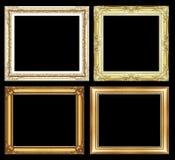 Satz des goldenen Rahmens der Weinlese mit Leerstelle und Beschneidungspfad, Lizenzfreie Stockfotos