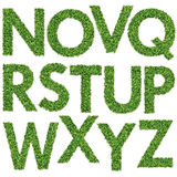Satz des grünes Gras-Alphabetes Lizenzfreie Stockbilder