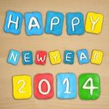 Satz des Jahres 2014 gemacht vom Plasticine Lizenzfreie Stockfotos