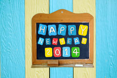 Satz des Jahres 2014 gemacht vom Plasticine auf Tafel Lizenzfreie Stockbilder