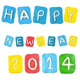 Satz des Jahres 2014 gemacht vom Plasticine lokalisiert Stockfotografie