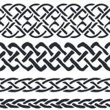 Satz des keltischen Musters fasst Vektor ein Lizenzfreie Stockfotos