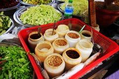 Satz des Kochens von Gewürzen Myanmar Lizenzfreie Stockbilder