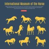 Satz des laufenden Pferds Lizenzfreie Stockfotos