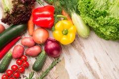 Satz des lokalisierten Gemüseteils Stockfoto