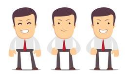 Satz des Managercharakters in unterschiedlichem wechselwirkendem Lizenzfreies Stockfoto