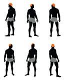 Satz des Mannschattenbildes Stockbilder