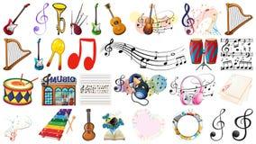 Satz des Musikinstrumentes lizenzfreie stockfotos