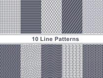 Satz des Musters im nahtlosen Design stockbilder