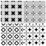 Satz des Musters mit vier Grills vektor abbildung