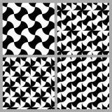 Satz des Musters mit vier Kurven stock abbildung