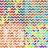 Satz des nahtlosen Musters mit Zickzacklinien Stockfotografie