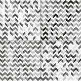 Satz des nahtlosen Musters mit Zickzacklinien Lizenzfreie Stockfotografie
