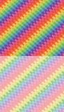 Satz des Regenbogens bewegt Hintergründe wellenartig Lizenzfreies Stockbild