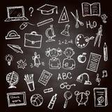Satz des Schulzeichens und -symbols Stockfotografie
