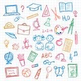 Satz des Schulzeichens und -symbols Stockbilder
