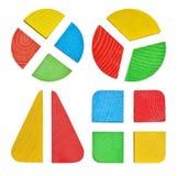 Satz des Spielzeugs, Babysortierer mit geometrischen Zahlen Stockfoto
