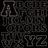 Satz des Stich-Alphabetes Stockbild