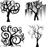 Satz des stilisierten schwarzen Baums vektor abbildung