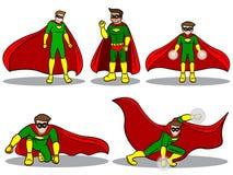 Satz des Superhelden Stockbilder