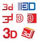 Satz des Symbols 3d Lizenzfreie Stockbilder