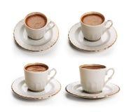 Satz des türkischen Kaffees mit Beschneidungspfad Lizenzfreies Stockfoto