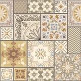 Satz des unterschiedlichen nahtlosen geometrischen Musters, Beschaffenheit für Tapete, Fliesen, Webseitenhintergrund, Gewebe und  lizenzfreie abbildung