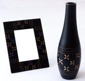 Satz des Vasen- und Fotorahmens Lizenzfreie Stockfotos