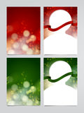 Satz des Vektorfeiertagsfliegers, Weihnachtsgrußkartenschablonen Stockbilder