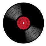 Satz des Vinyl 33rpm mit rotem Kennsatz Lizenzfreie Stockbilder