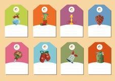 Satz des Weihnachtsikonenvektors Stockbild