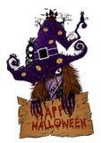 Satz des Zombies eigenhändig zeichnend Lizenzfreies Stockfoto