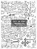 Satz des zwei Hand gezeichneten nahtlosen Gekritzelmusters mit Pfeilen eps10 Stockfoto