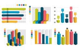 Satz Diagramme, Diagramme Einfach Farbe editable lizenzfreie abbildung