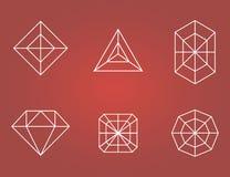 Satz Diamantikonen Stockfoto
