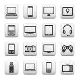 Satz digitale Geräte und elektronische Gerätikonen Vektorabbildung (Ausschnittspfad) Lizenzfreie Stockbilder