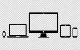 Satz digitale Gerätikonen Lizenzfreies Stockfoto