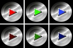 Satz Druckknöpfe für Spiel - Vektor lizenzfreie abbildung