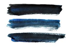 Satz dunkel-blaue Bürstenanschläge lizenzfreie abbildung
