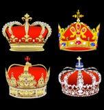 Satz eine britische Krone stock abbildung