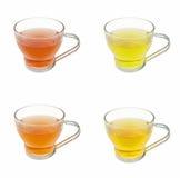 Satz einer Vielzahl der Tees Stockfotos