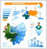 Satz Elemente für die Schaffung ein infographic über die Welt Stockfoto