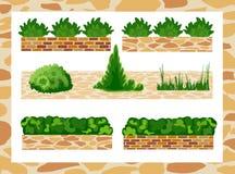 Satz Elemente für Landschaftsdekor Stockbilder