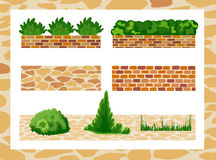 Satz Elemente für Landschaftsdesign Lizenzfreies Stockbild