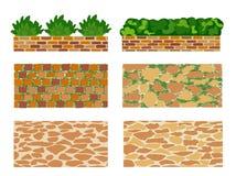Satz Elemente für Landschaftsdesign Stockbild